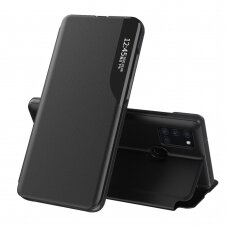 Atverčiamas Dėklas Eco Leather View Case Samsung Galaxy A21S  Juodas