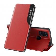 Atverčiamas Dėklas Eco Leather View Case Raudonas Samsung Galaxy A21S Raudonas