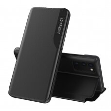 Atverčiamas dėklas Eco Leather View Case elegant Samsung Galaxy A32 4G Juodas