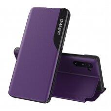 Atverčiamas dėklas Eco Leather View skirta Samsung Galaxy Note 10 Violetinis