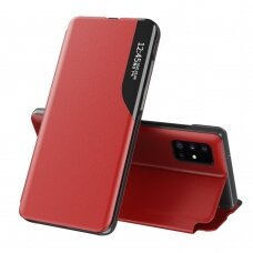 Atverčiamas dėklas Eco Leather View skirta Samsung Galaxy Note 20 Raudonas