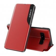 Atverčiamas Dėklas Eco Leather View Case Samsung Galaxy S10 Raudonas