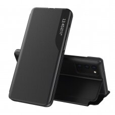 Atverčiamas dėklas Eco Leather View Case elegant bookcase  Samsung Galaxy S20 FE 5G Juodas