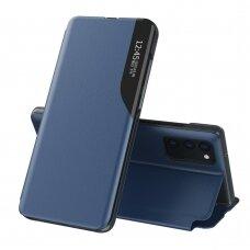 Atverčiamas dėklas Eco Leather View Case elegant bookcase Samsung Galaxy S20 FE 5G Mėlynas