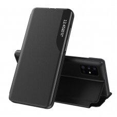 Samsung Galaxy S20+ (S20 Plus) Atverčiamas Dėklas Eco Leather View Case Juodas