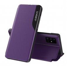 Samsung Galaxy S20+ (S20 Plus) Atverčiamas Dėklas Eco Leather View Case Violetinis