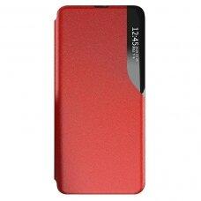 Atverčiamas dėklas Eco Leather View Case elegant bookcase Samsung Galaxy S21+ 5G (S21 Plus 5G) raudonas