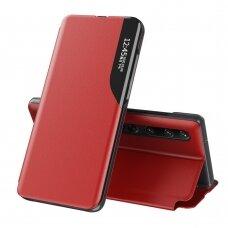 Atverčiamas Dėklas Eco Leather View Case  Xiaomi Mi 10 Pro / Xiaomi Mi 10 Raudonas