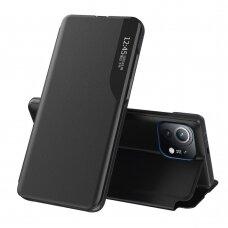 Atverčiamas dėklas Eco Leather View Case elegant Xiaomi Mi 11 Juodas