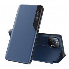 Atverčiamas dėklas Eco Leather View Case elegant bookcase Xiaomi Mi 11 Tamsiai mėlynas