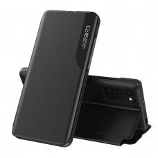 Atverčiamas dėklas Eco Leather View skirta Xiaomi Poco M3 Juodas