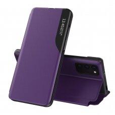 Atverčiamas dėklas Eco Leather View skirta Xiaomi Poco M3 Violetinis