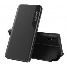Atverčiamas Dėklas Eco Leather View Case  Xiaomi Redmi 9A Juodas