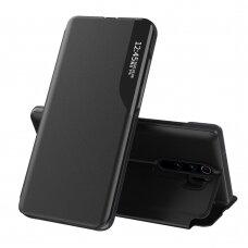 Atverčiamas Dėklas Eco Leather View Case Xiaomi Redmi Note 8 Pro Juodas