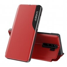 Atverčiamas Dėklas Eco Leather View Case Xiaomi Redmi Note 8 Pro Raudonas