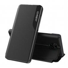 Atverčiamas Dėklas Eco Leather View Case  Xiaomi Redmi Note 9 Pro / Redmi Note 9S Juodas