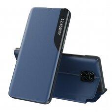 Atverčiamas Dėklas Eco Leather View Case  Xiaomi Redmi Note 9 Pro / Redmi Note 9S Mėlynas