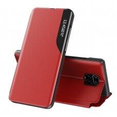 Atverčiamas Dėklas Eco Leather View Case  Xiaomi Redmi Note 9 Pro / Redmi Note 9S Raudonas