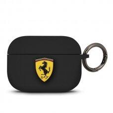Ferrari Feacapsilglbk Airpods Pro Cover Czarny/Black Silicone