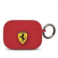 Ferrari Feacapsilglre Airpods Pro Cover Czerwony/Red Silicone
