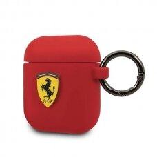 Dėklas Originalus Ferrari FESACCSILSHRE AirPods cover raudonas Silicone