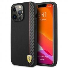 "Dėklas Ferrari FESAXHCP13XBK iPhone 13 Pro Max 6,7"" Juodas On Track Carbon Stripe"