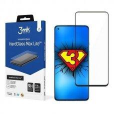 Apsauginis Ekrano Stikliukas 3MK HG Max Lite Oneplus 8T / 9 telefonui juodais kraštais