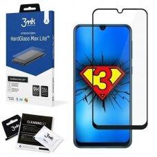 Apsauginis Ekrano Stikliukas 3MK HG Max Lite Samsung Galaxy M21 telefonui juodais kraštais