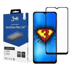 Apsauginis Ekrano Stikliukas 3MK HG Max Lite Samsung Galaxy A02s telefonui juodais kraštais