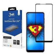 Apsauginis Ekrano Stikliukas 3MK HG Max Lite Samsung Galaxy A21s telefonui juodais kraštais