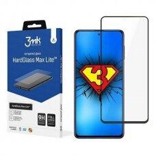 Apsauginis Ekrano Stikliukas 3MK HG Max Lite Samsung Galaxy M51 telefonui juodais kraštais