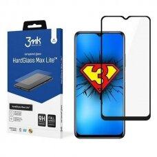 Apsauginis Ekrano Stikliukas 3MK HG Max Lite Xiaomi Poco M3 telefonui juodais kraštais