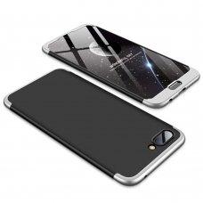 """Dviejų Dalių Plastikinis Dėklas Apsaugantis Priekį Ir Galą """"Gkk 360"""" Huawei Honor 10 Juodas-Sidabrinis"""