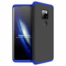 """Dviejų Dalių Plastikinis Dėklas Apsaugantis Priekį Ir Galą """"Gkk 360"""" Huawei Mate 20 Juodas-Mėlynas"""