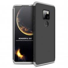 """Dviejų Dalių Plastikinis Dėklas Apsaugantis Priekį Ir Galą """"Gkk 360"""" Huawei Mate 20 Juodas-Sidabrinis"""