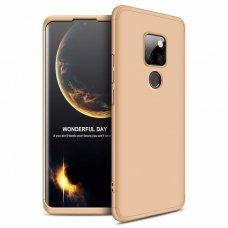 """Dviejų Dalių Plastikinis Dėklas Apsaugantis Priekį Ir Galą """"Gkk 360"""" Huawei Mate 20 Auksinis"""