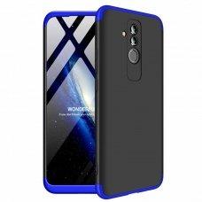"""Dviejų Dalių Plastikins Dėklas Apsaugantis Priekį Ir Galą """"Gkk 360"""" Huawei Mate 20 Lite Juodas-Mėlynas"""