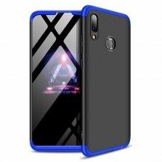"""Dviejų Dalių Plastikinis Dėklas Apsaugantis Priekį Ir Galą """"Gkk 360"""" Huawei P Smart 2019 Juodas-Mėlynas"""