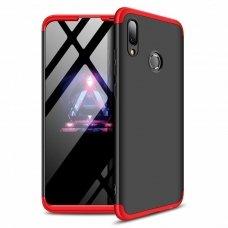 """Dviejų Dalių Plastikinis Dėklas Apsaugantis Priekį Ir Galą """"Gkk 360"""" Huawei P Smart 2019 Juodas-Raudonas"""