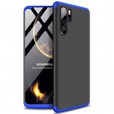"""Dviejų Dalių Plastikinis Dėklas Apsaugantis Priekį Ir Galą """"Gkk 360"""" Huawei P30 Pro Juodas-Mėlynas"""