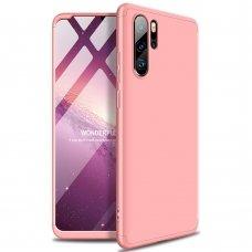 """Dviejų Dalių Plastikinis Dėklas Apsaugantis Priekį Ir Galą """"Gkk 360"""" Huawei P30 Pro Rožinis"""