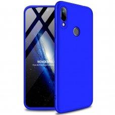 """Dviejų Dalių Plastikinis Dėklas Apsaugantis Priekį Ir Galą """"Gkk 360"""" Huawei Y6 2019 Mėlynas"""