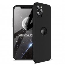 Dėklas GKK 360 Protection Case Front and Back Case Full Body  iPhone 12 Pro / iPhone 12 Juodas