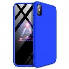 """Dviejų Dalių Plastikinis Dėklas Apsaugantis Priekį Ir Galą """"Gkk 360"""" Iphone Xs Max Mėlynas"""