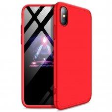 """Dviejų Dalių Plastikinis Dėklas Apsaugantis Priekį Ir Galą """"Gkk 360"""" Iphone Xs Max Raudonas"""