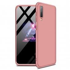 """Dviejų Dalių Plastikinis Dėklas Apsaugantis Priekį Ir Galą """"Gkk 360"""" Samsung Galaxy A70 Rožinis"""