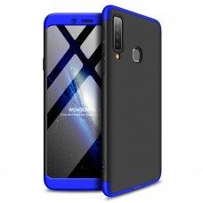 """Dviejų Dalių Plastikinis Dėklas Apsaugantis Priekį Ir Galą """"Gkk 360"""" Samsung Galaxy A9 2018 A920 Juodas-Mėlynas"""