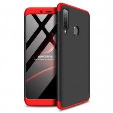 """Dviejų Dalių Plastikinis Dėklas Apsaugantis Priekį Ir Galą """"Gkk 360"""" Samsung Galaxy A9 2018 A920 Juodas-Raudonas"""