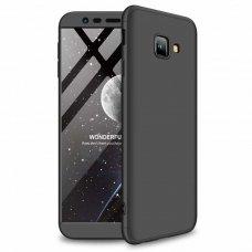 """Dviejų Dalių Plastikinis Dėklas Apsaugantis Priekį Ir Galą """"Gkk 360"""" Samsung Galaxy J4 Plus 2018 J415 Juodas"""