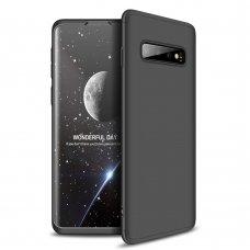 """Dviejų Dalių Plastikins Dėklas Apsaugantis Priekį Ir Galą """"Gkk 360"""" Samsung Galaxy S10 Plus Juodas"""